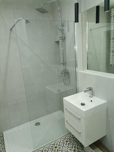prysznic i umywalka